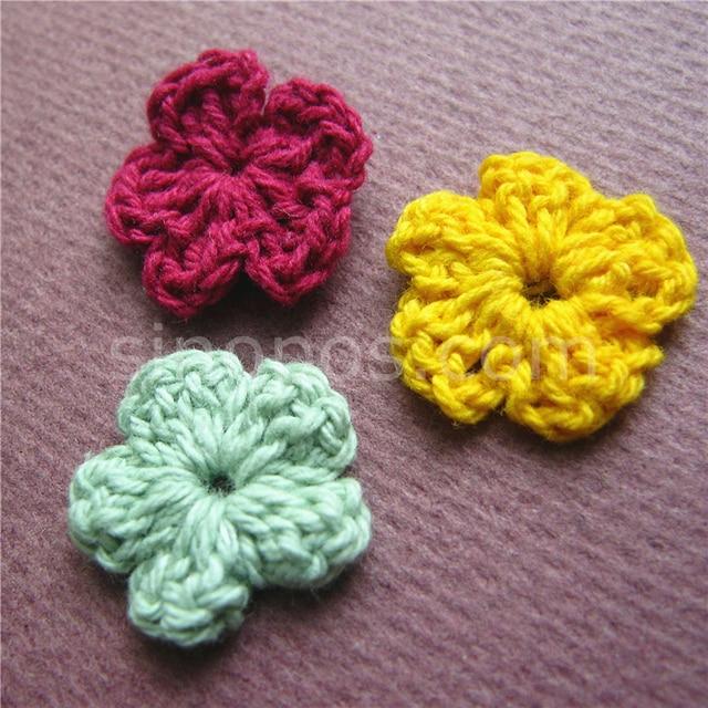 Handmade Crochet Flower Applique 18mm Quilting Scrapbook Diy Wool