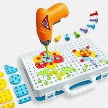 Детские игрушки, сверлильный пазл, развивающие игрушки, сделай сам, винтовая группа, игрушки, детский набор, пластиковый мальчик, мозаика, дизайн, строительная игрушка