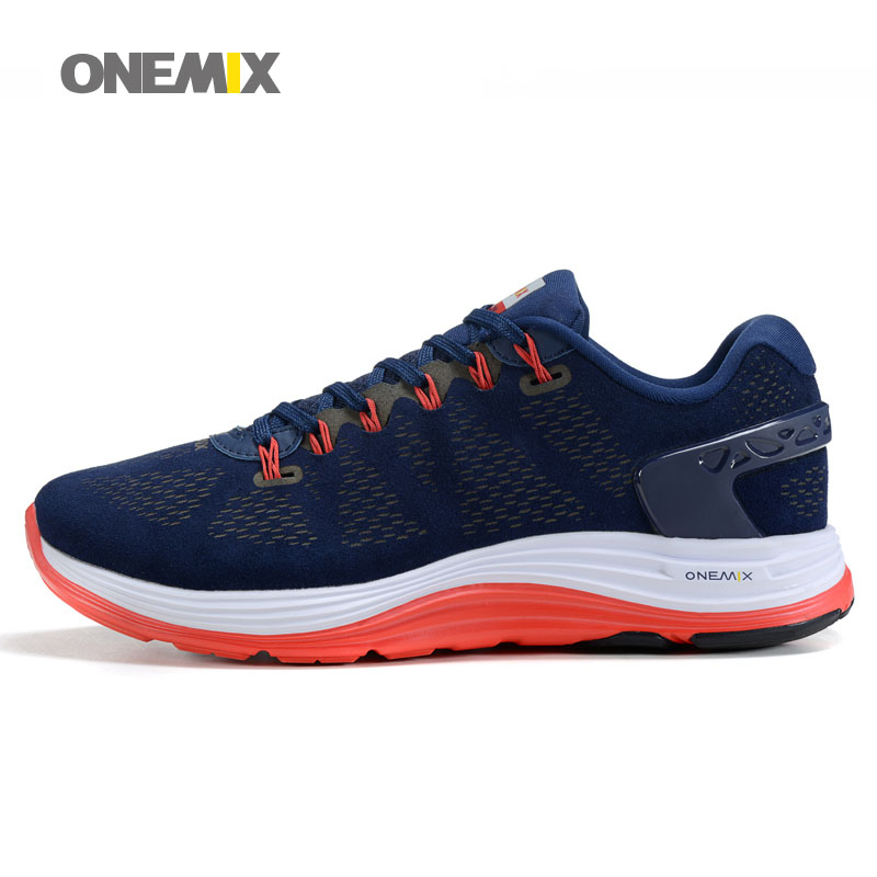 2017 ONEMIX New Mens Running Shose Light Breathable Athletic Sneakers hard-wearing lace-up running shoes 1012 with 5 Colors