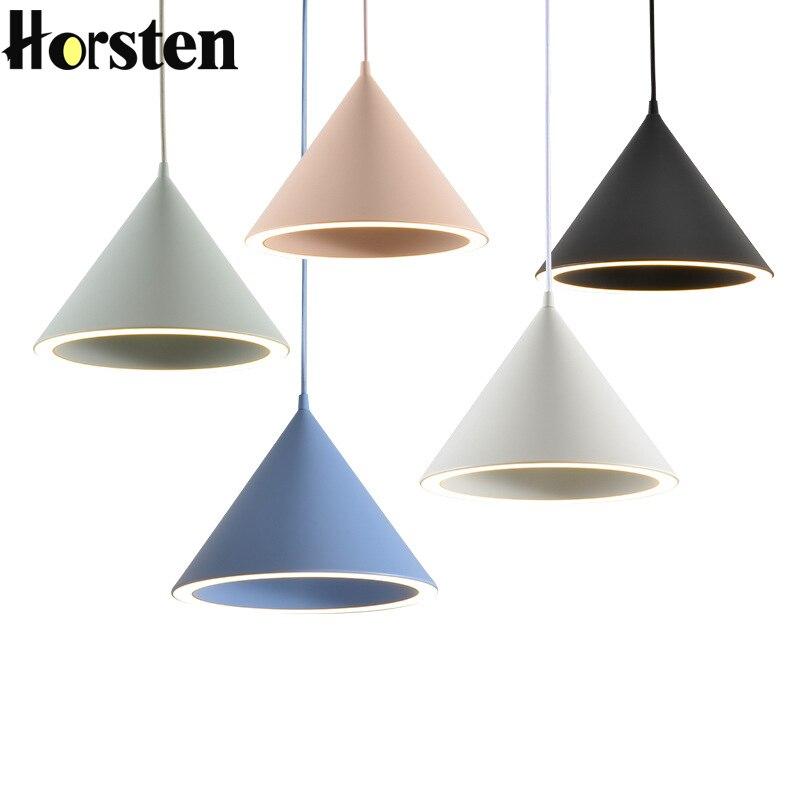 Nordic Simple Modern LED Pendant Lights Makaron Hanging Light Minimalism Dining Room Lights Fixtures Kitchen Lighting Pendants