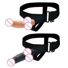 Strap On Realistic Dildo Wearable Penis Adjustable Belt Adul
