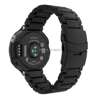 Universal Stainless Steel Watch Band Strap Bracelet for Garmin Forerunner 235 / 220 / 230 / 620 / 630 /735XT Smart Watch