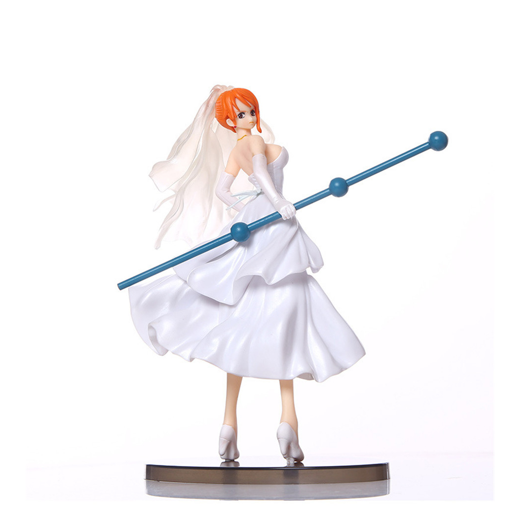 Chanycore Scultures BIG IV 20CM DXF One Piece Wedding dress Ver. Nami Anime Collectible Action Figures PVC Collection toys