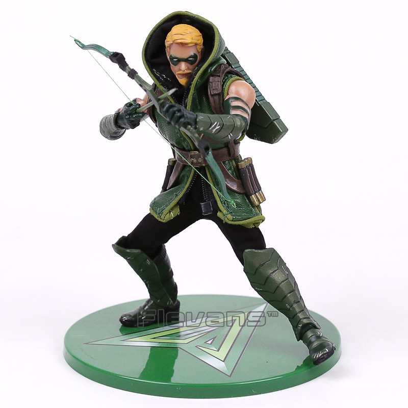 MEZCO DC COMICS Green Arrow 1/12 Scale PVC Action Figure Collectible Model Toy 16cm hot toy juguetes 7 oliver jonas queen green arrow superheros joints doll action figure collectible pvc model toy for gifts