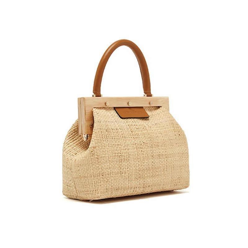 cb4c3ff4ba Designer Summer 2018 Small Handbag Women Hand Bags Chain Straw bag Lady  Travel Beach Shoulder Cross