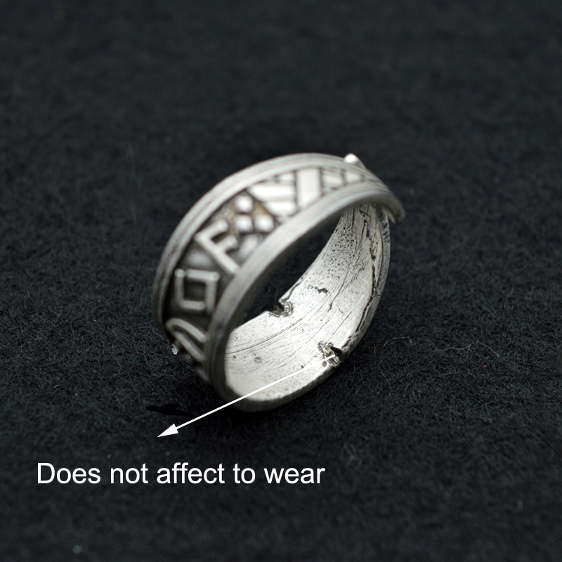 1pcs antique silver viking ring nordic rune rings handmade men adjustable rings norse mythology viking jewelry rg37 in rings from jewelry accessories on - Norse Wedding Rings