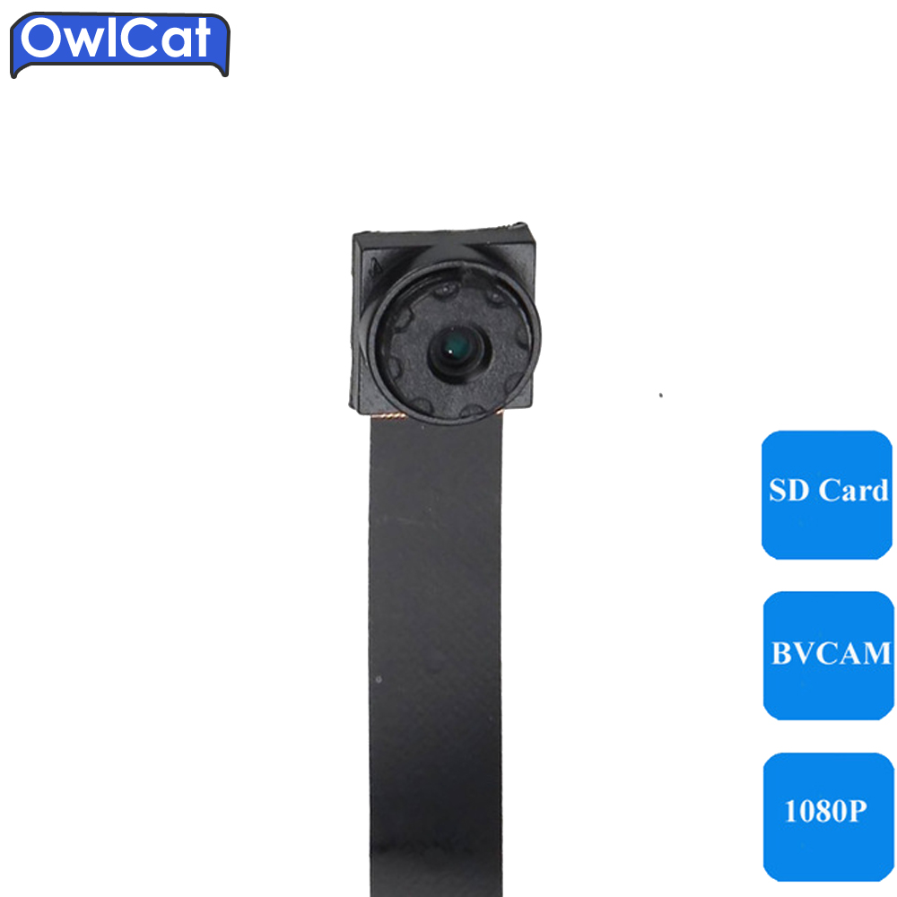 OwlCat Super Mini Wireless Camera HD 1080P WiFi Connection Phone BVCAM Remote View P2P Microphone Audio Camcorder SD Card Slot super mini hd 720p wireless ip camera wifi cctv network cam microphone audio sd card p2p support android iphone p2p view