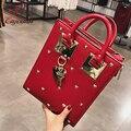Новый стиль дизайнера металла в форме сердца украшения кожа pu дамы сумки сумка сумки щитка crossbody messenger сумка