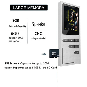 Image 5 - CHENFEC C18 الأصلي مشغل Mp3 16 جيجابايت المتكلم MP3 مشغل موسيقى الرياضة 1.8 بوصة شاشة عالية الجودة ضياع مسجل صوتي FM MP3