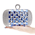 Acrylic Rhinestones Women Evening Bags Finger Rings Diamonds Day Clutches Purse One Side Glasses Chain Shoulder Wallets