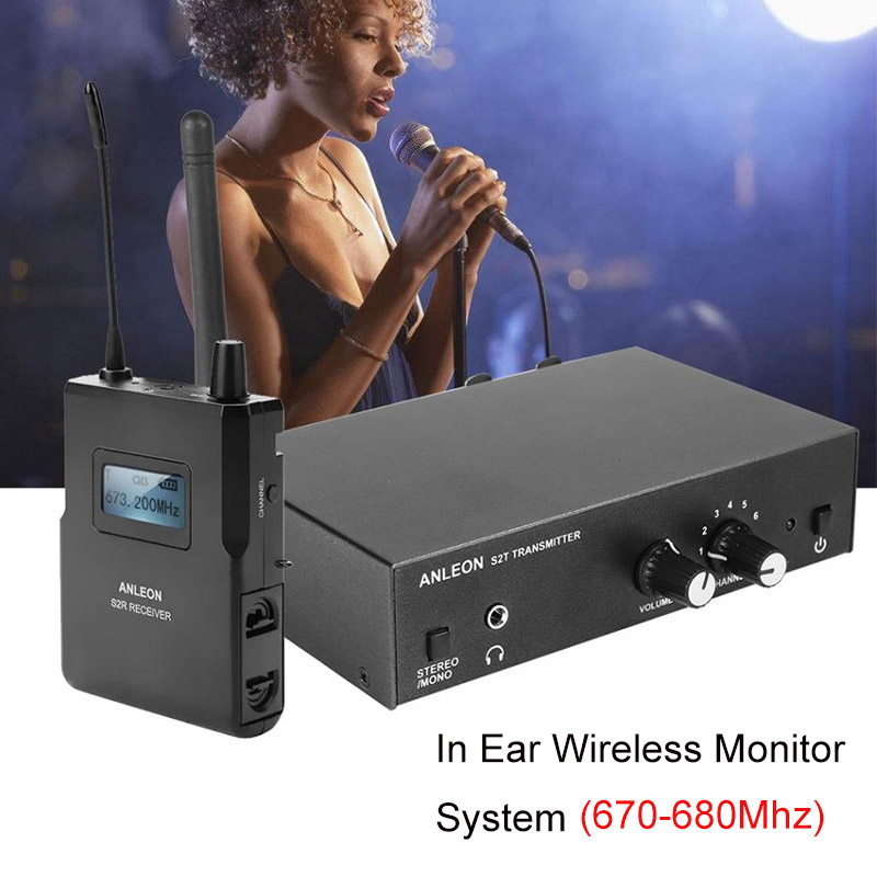 ANLEON ため S2 ステレオワイヤレスモニターシステムワイヤレスイヤホンマイク送信機システム 670 680MHZ NTC アンテナ Xiomi  グループ上の 家電製品 からの スマートリモコン の中 1