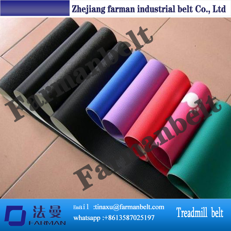 ISO Standard PVC Treadmill Conveyor Belt Running Belt Treadmill Belt for Fitness pvc treadmill running belt exercise diamond pattern black color treadmill belt