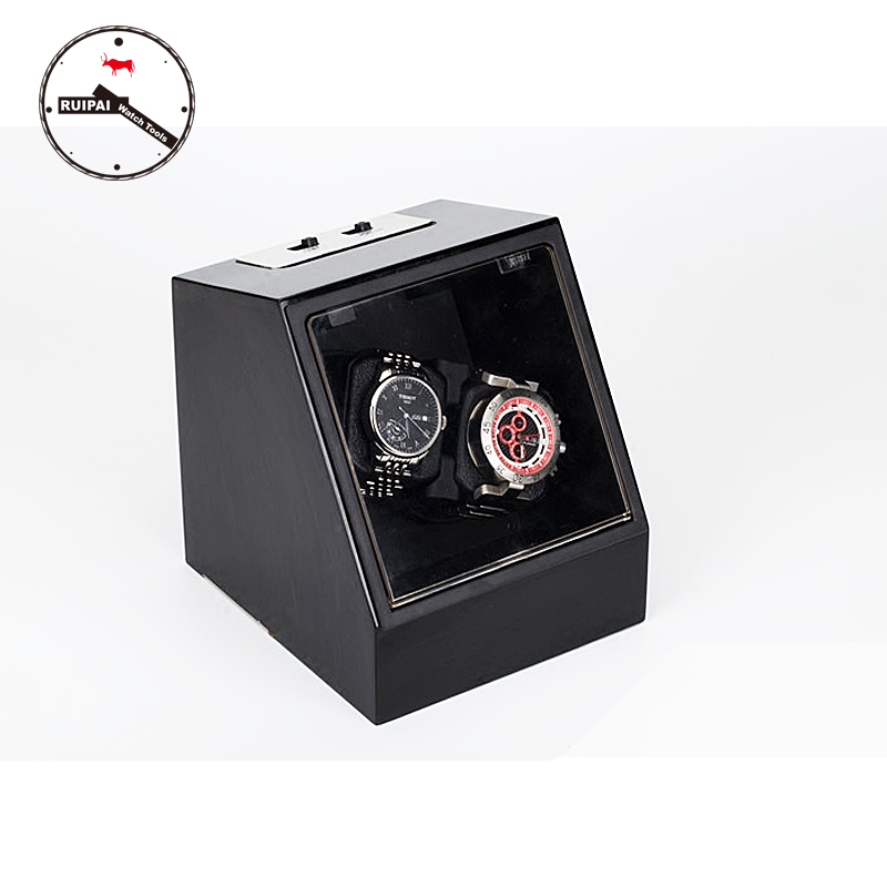 New Arrival P0078-BK High-End Black Color  Watch Storage box Automatic Watch Winder new arrival black color carbon fibre wood watch winder german ultra quiet 5 modes watch winder