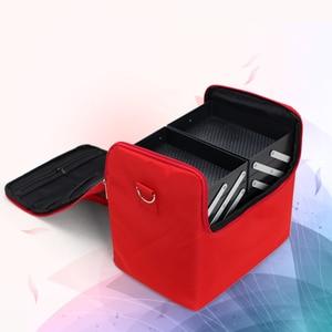 Image 2 - Valise professionnelle pour boîte de maquillage, trousse de rangement pour maquillage et cosmétiques à fermeture éclair à mallette de rangement pochettes, trousse de toilette et de beauté