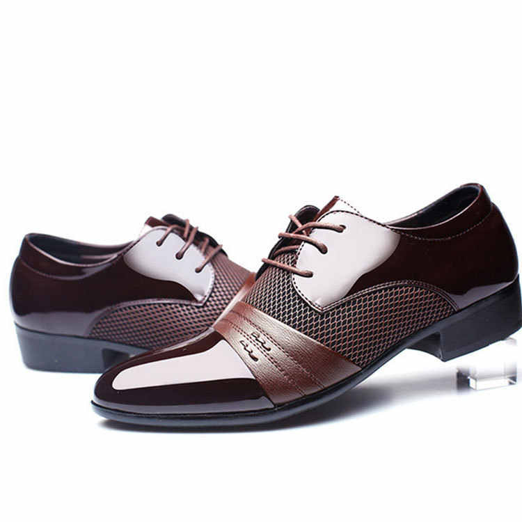 Men's Pu Casual Dress Leather Dress Leather Shoes Men Shoes Leather Fashion Hot Selling Leather Casual Shoes Men