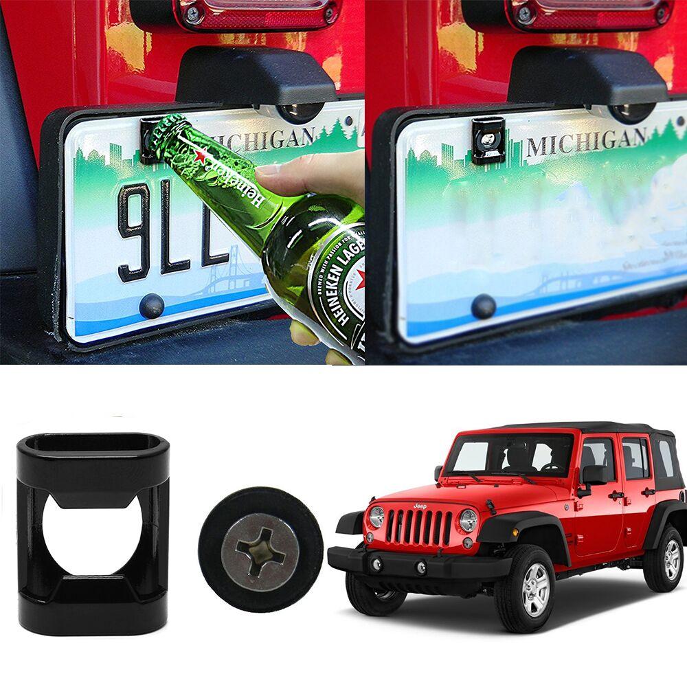 Hintere Kennzeichen Montiert Zubehör fit für Jeep Wrangler JK, TJ Modelle/Ford Raptor (F-150) M6 Schrauben Geeignet Bier Flaschenöffner