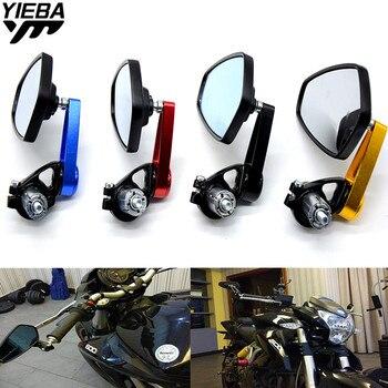 Espejos de motocicleta espejo retrovisor espejo de manillar para TRIUMRH Daytona 675 Tiger Scrambler Street Triple R Z800