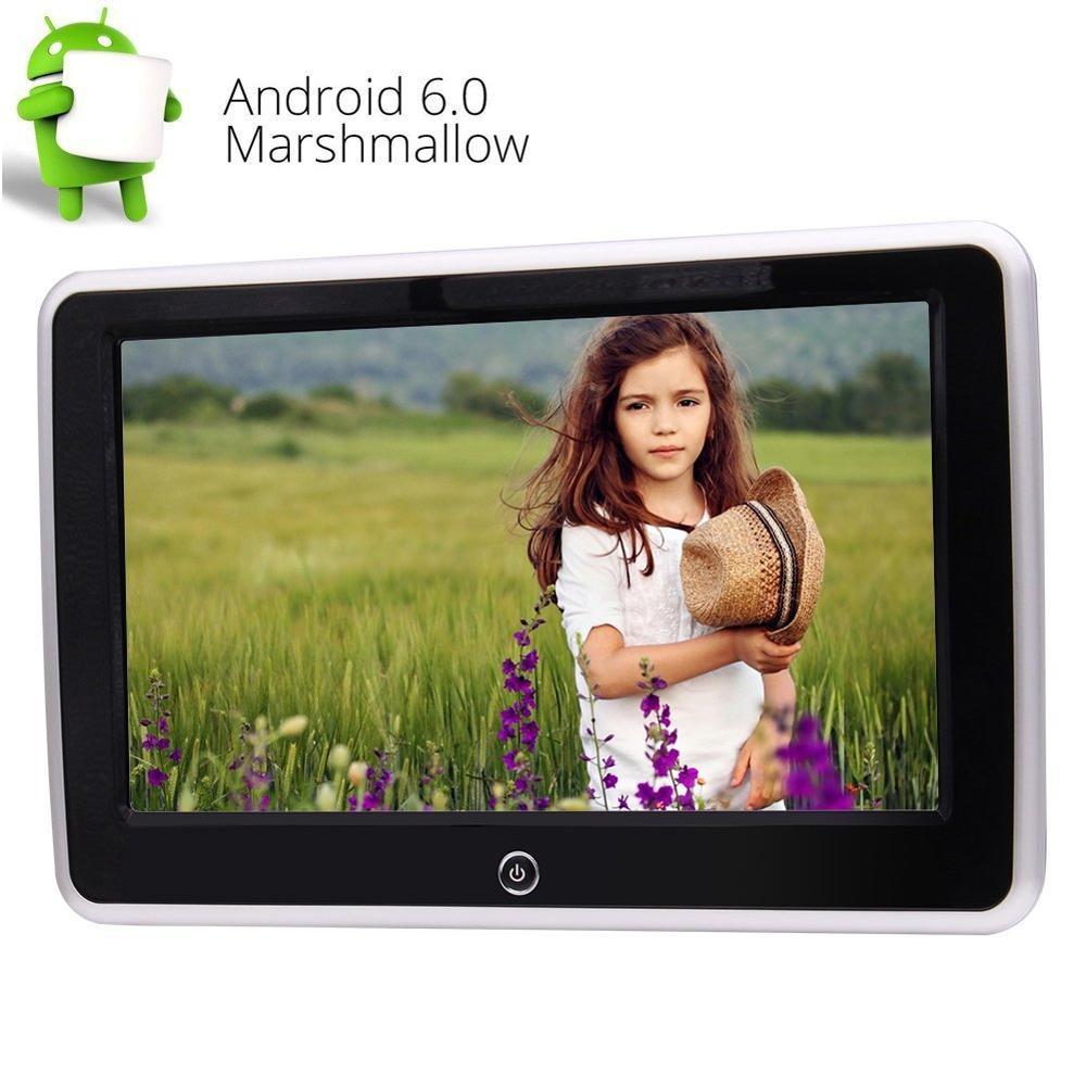 10.1 ''Android6.0 HD écran tactile capacitif voiture NO-DVD lecteur appuie-tête moniteur LCD écran avec HDMI USB SD FM IR WIFI miroir