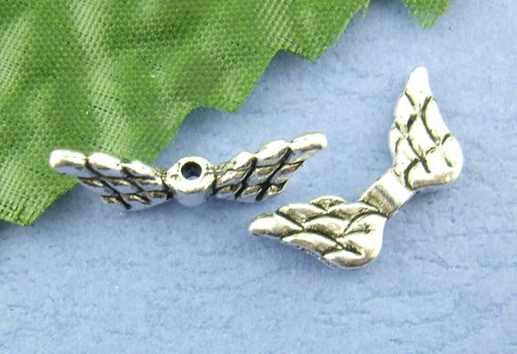 DoreenBeads 10 шт. Крыло ангела Подвески Распорки бисер Выводы 9*20 мм