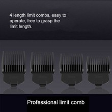 EU Plug Electric Hair Clipper Trimmer Kit for Men Professional Rechargeable Haircut Grooming Hair Cutting Styling Machine