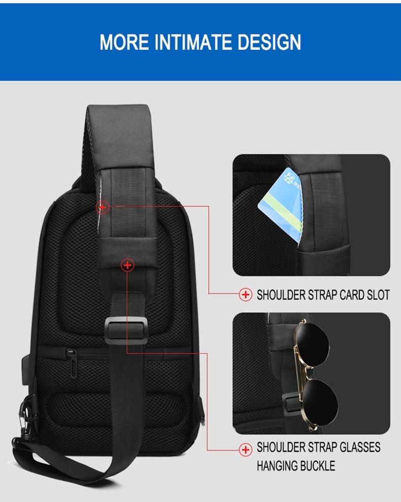 de carregamento usb viagem crossbody sacos repelente