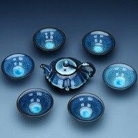 7PCS/set China Kung Fu Tea Set Jingdezhen Ceramic Tea Set Chinese Tea Cup Porcelein Tea Cups 1 Teapot + 6 Cups Good Gift