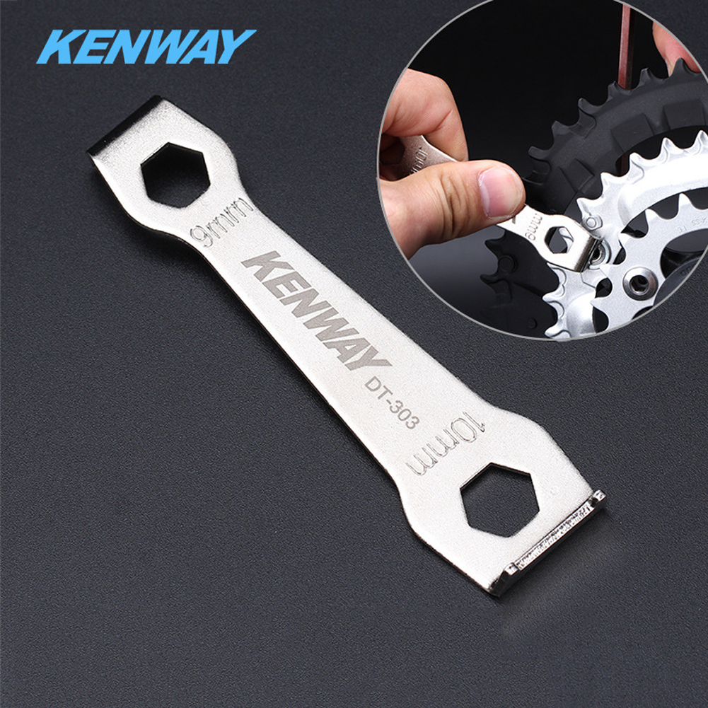 Portable Bike Cycling Wrench Spanner Repair Tool Bicycle Wheel Crank Chain Tool