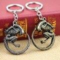 Fashion Vintage Bronze Plated Alien Predator Keychain AVP Alien Queen Key Chains for souvenirs alien keychain Men Jewelry Gift