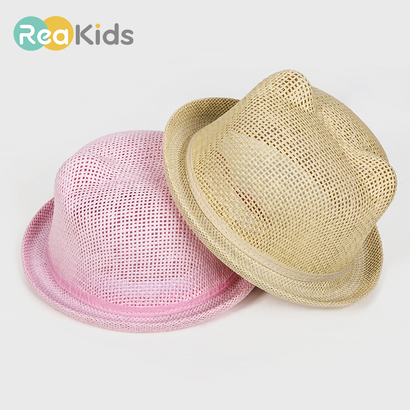 Humor Reakids Baby Sun Hat For Girl Boys Bucket Cap For Children Beach Hat Kids Character Ear Decoration Summer Cap Straw Hats 2019 New Fashion Style Online Accessories Boys' Baby Clothing