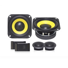 High-end Quality 4inch Car Audio Woofer Speaker Sets Hifi Loudspeaker Universal With Dome Tweeter Speaker And Crossover Divider brand new peavey 30501582 crossover for sp4 speaker