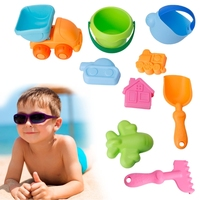 9Pcs Set Baby Children Bath Beach Sands Funny Toys Set Bucket Shovels Kettle Tools M15