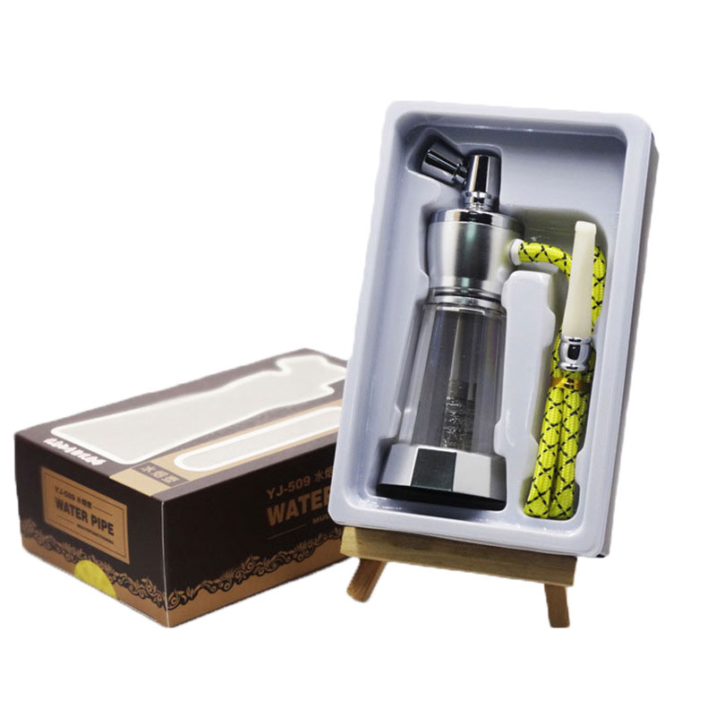 Multiple Water Filtration Top Glass Hookah Hose Lighter & <font><b>Smoking</b></font> Pipe Accessories Elegant Gifts Box Mouthpiece Bowl for Shisha