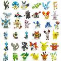 48 unids Pokeball Pikachu 2-3 cm Diferente Estilo Mini Figura de Dibujos Animados de Bolsillo Monster Juguetes Órdenes Mezcladas Shippinng Libre