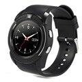 Original 100% v8 smart watch relógio com sim slot para cartão tf conectividade bluetooth para apple iphone android relógio telefone smartwatch