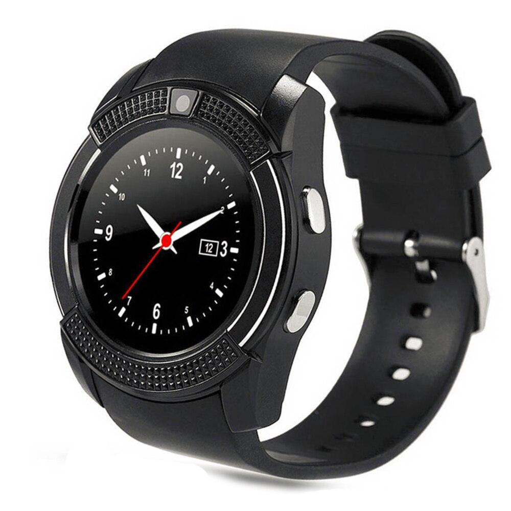V8 smart watch reloj con ranura para tarjeta sim tf conectividad bluetooth para