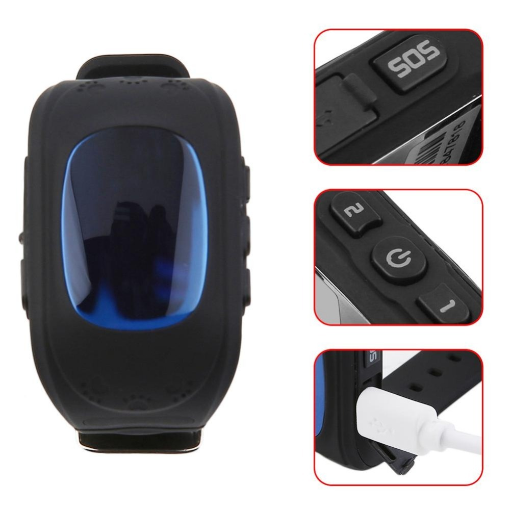 Q50 Children Accurate Tracker Emergency Anti-Lost Smart Watch For Android