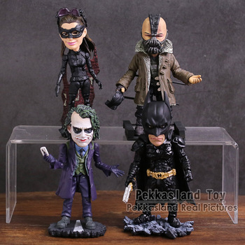 TOYS ROCKA! The Dark Night Rises Bruce Wayne Bane Joker Catwoman PVC Action Figure Collectible Model Toy 4 Styles image