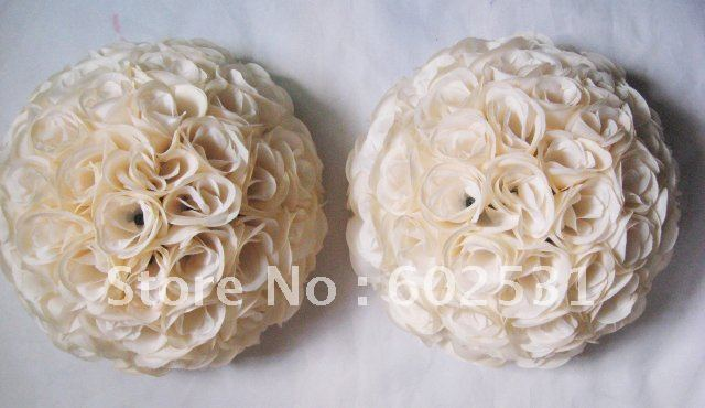 SPR 40 cm plastique intérieur pomandre baiser boule beige vacances décoration, décoration de fête