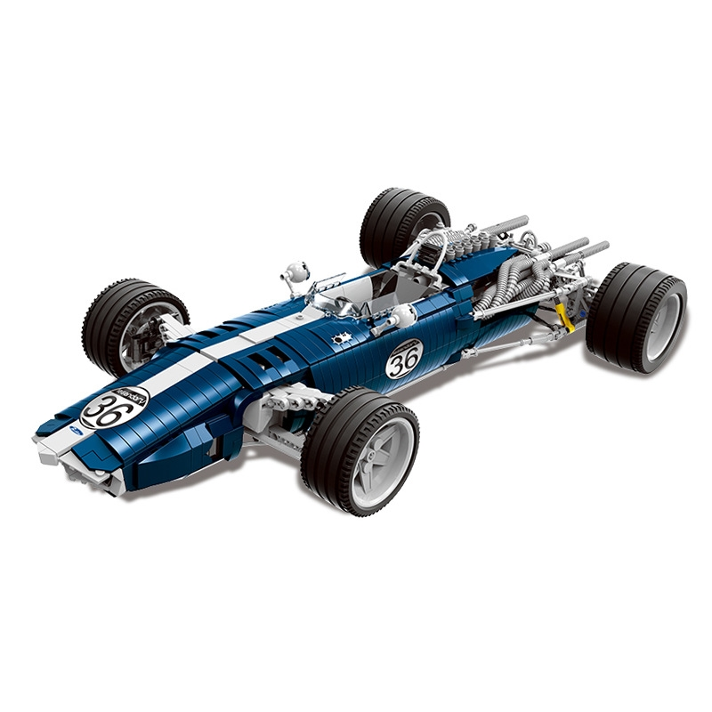 1758PCS the Blue F1 Racing Car Set Building Blocks Bricks Educational Funny Toys Compatible Legoinglys Technic Kids Gift цена