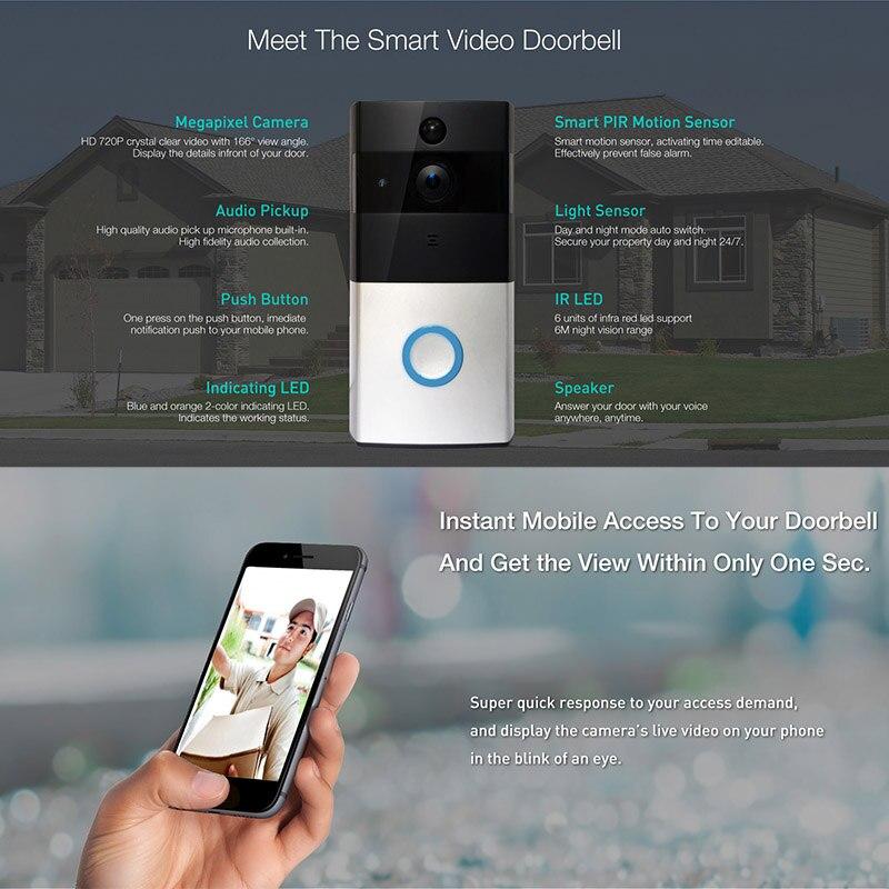 Wifi Video Doorbell Ring Door Bell Wifi Door Bell Camera For