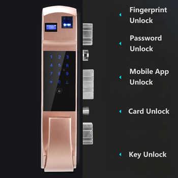 High Grade Modern European Style Aluminum Alloy Fingerprint Smart Door Lock Sliding Door Lock For Living Room Bedroom - DISCOUNT ITEM  24% OFF All Category