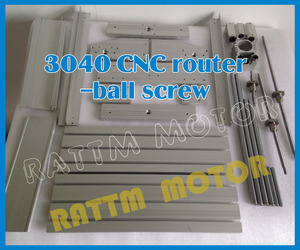 Image 4 - AUS delivery New 3040 CNC router milling machine mechanical frame kit ball screw with DC spindle motor