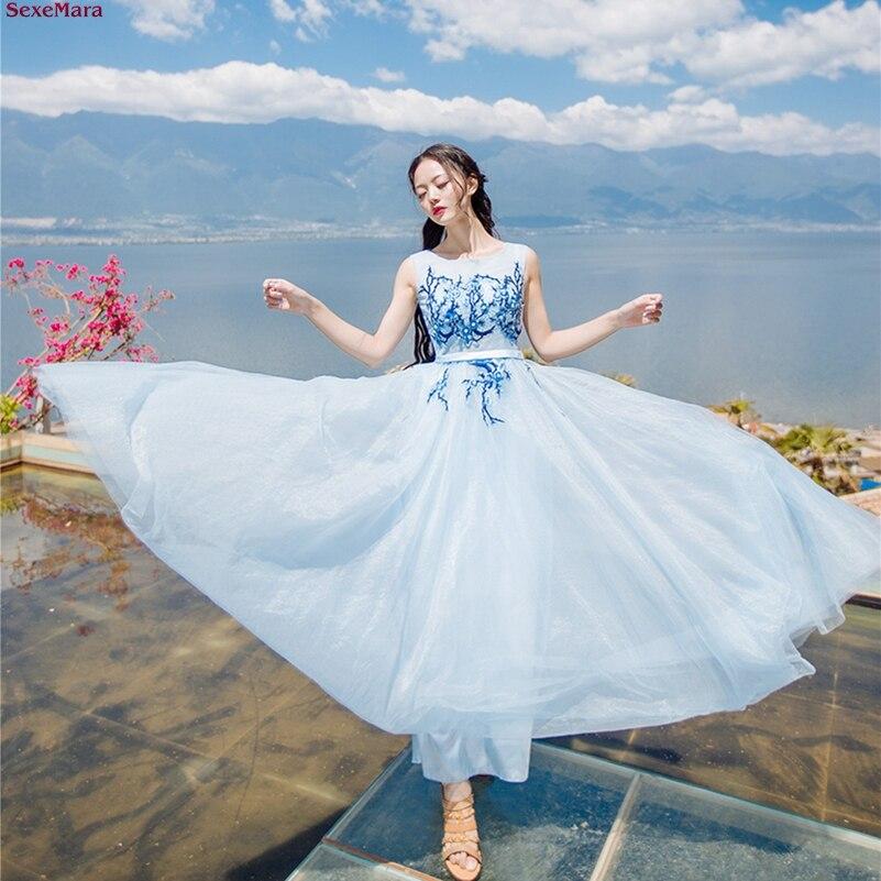 SexeMara D'été prune broderie net fils robe de vacances livraison gratuite