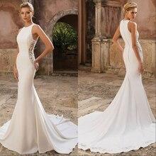 Vestido デ noiva レースマーメイドウェディングドレス 2019 新しい花嫁衣装の花嫁ドレス裁判所の列車ローブ · デのみ