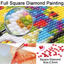 DIY 5D Mosaic Handmade Four Horses Diamond Painting Square Diamond Picture Holiday Gift New Kit