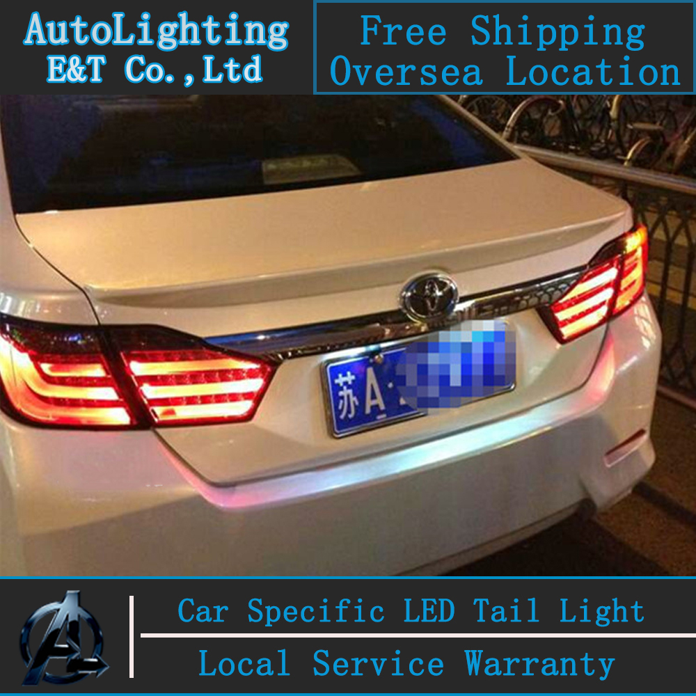Car Styling LED Tail Lamp for Camry Tail Lights For Toyota Camry V50 led tail light rear lamp cover drl+signal+brake+reverse