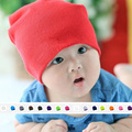 Knitted Cotton kids baby hat cap for boys girls solid color soft hat Spring Autumn Winter thick Baby Beanies