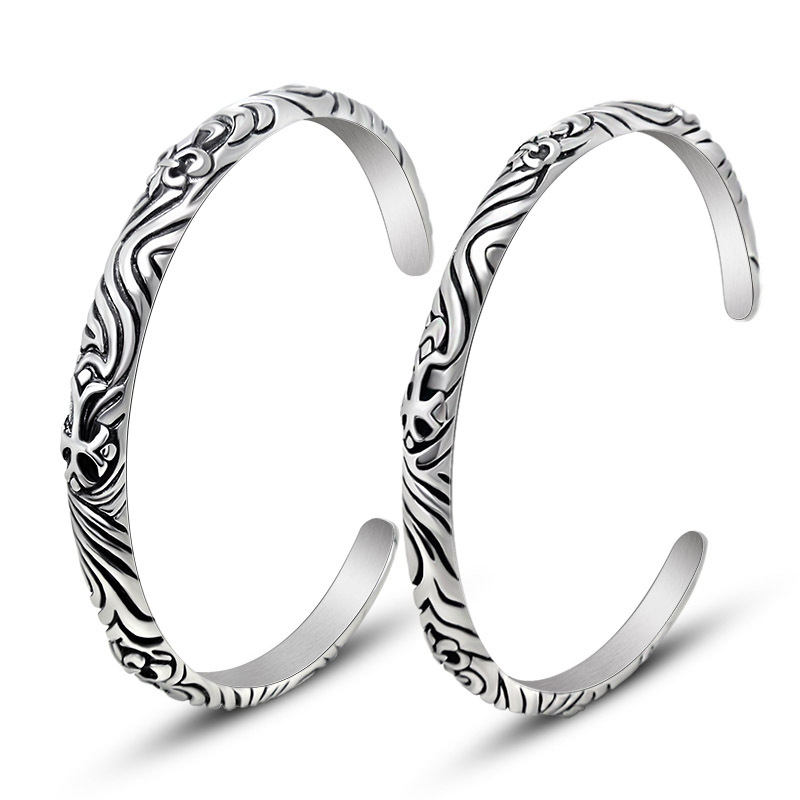 font b Fashion b font font b jewelry b font titanium steel bracelet Vintage cross