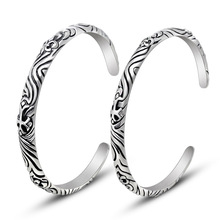 Fashion jewelry titanium steel bracelet Vintage cross men and women s bracelet Titanium steel jewelry bangles
