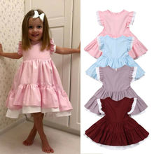 Toddler Kids Baby Girls Princess Party Pageant Gown Tutu Dress Sundress Clothes